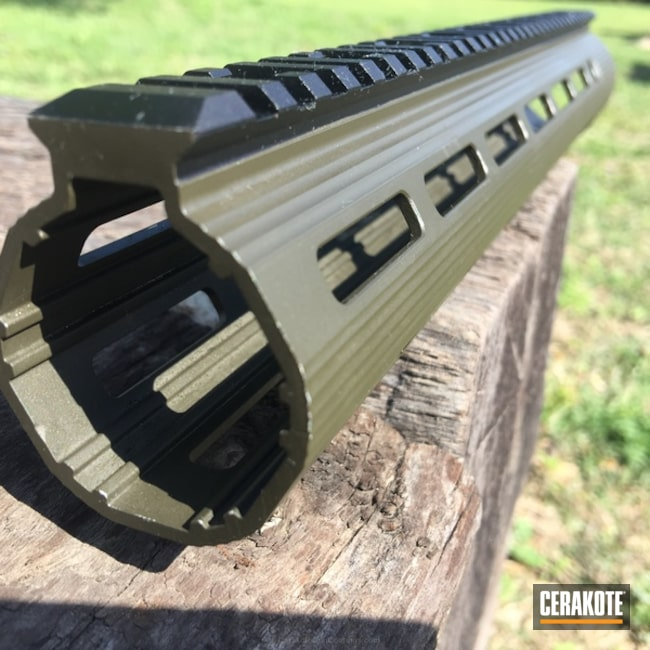 Mobile-friendly version of the 1st project picture. Handguard, MFR, MagPul O.D. Green H-232Q, Solid Tone