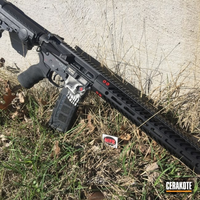 Cerakoted: Spike's Tactical The Jack,Snow White H-136,Graphite Black H-146,MFR,Tactical Rifle,SMITH & WESSON® RED H-216,Jack