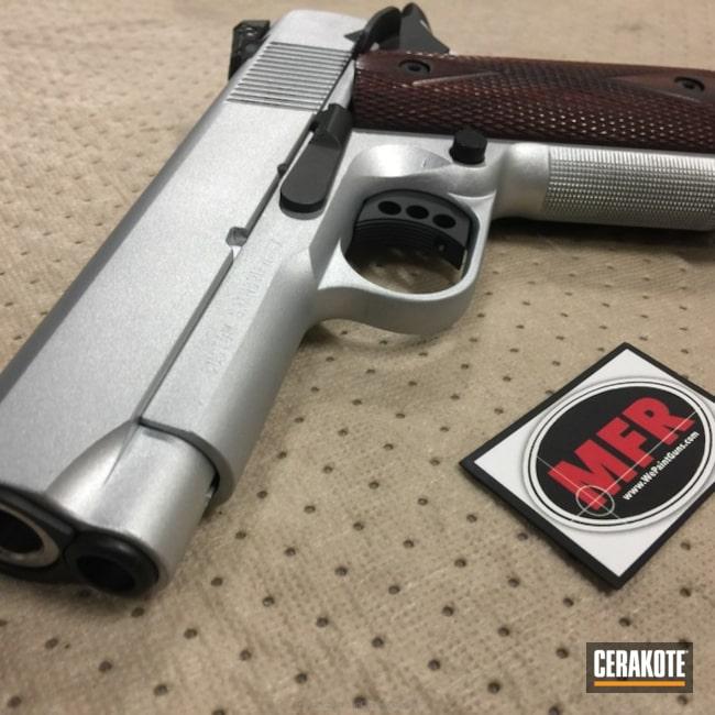 Cerakoted: Graphite Black H-146,5 Toes Custom,MFR,Satin Aluminum H-151,Pistol,1911