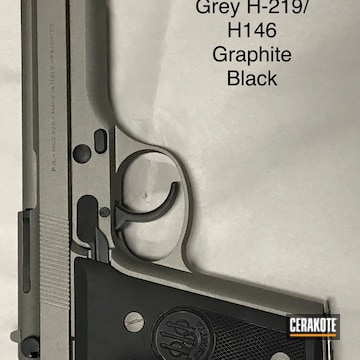 Cerakoted H-219 Gun Metal Grey And H-146 Graphite Black