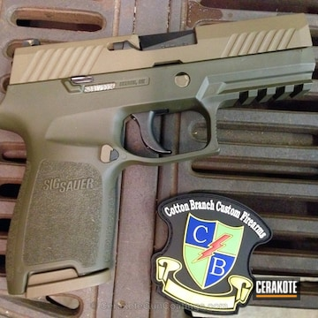 Cerakoted H-232 Magpul O.d. Green And H-226 Patriot Brown