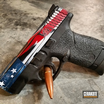 Cerakoted H-216 Smith & Wesson Red, H-220 Ridgeway Blue, H-136 Snow White, H-238 Midnight Blue And H-109 Gloss Black