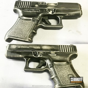 Cerakoted H-151 Satin Aluminum And H-146 Graphite Black