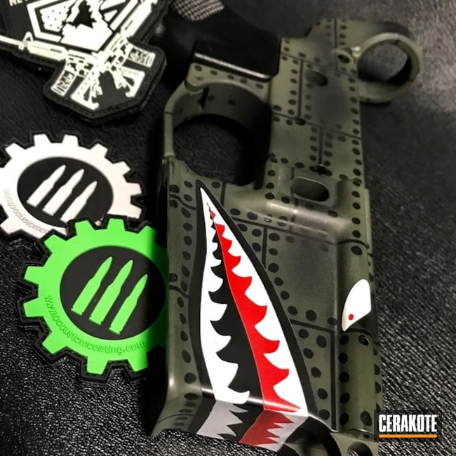 H-146 Graphite Black, H-236 O.D. Green, H-167 USMC Red and H-140 Bright White