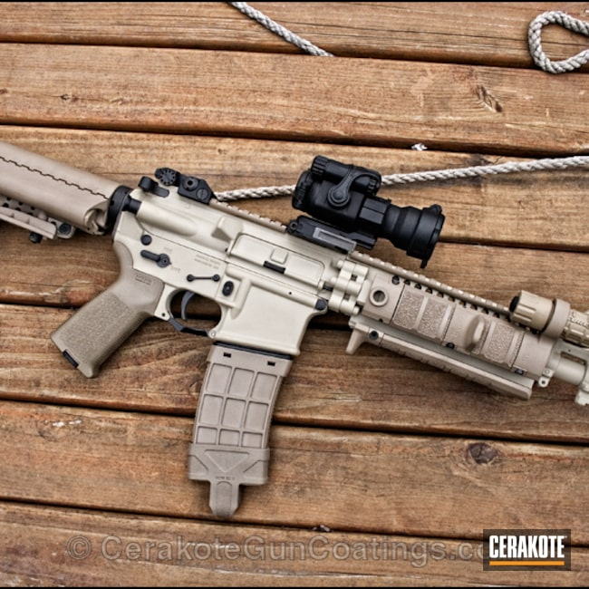 Big version of the 1st project picture. Surefire, Flashlights, Phoenix, Tactical Rifle, Phoenix Area Cerakote, Coyote Tan H-235Q