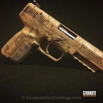 Cerakoted H-267 Magpul Flat Dark Earth And H-226 Patriot Brown