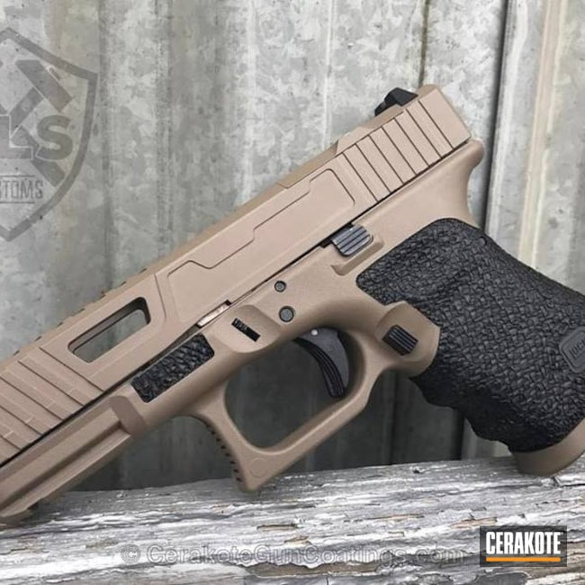 Cerakoted: Stippled,Pistol,Glock,Flat Dark Earth H-265,Handguns