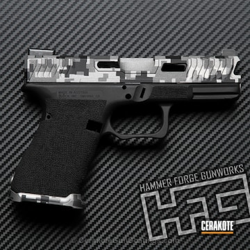 Cerakoted H-146 Graphite Black, H-170 Titanium And H-237 Tungsten