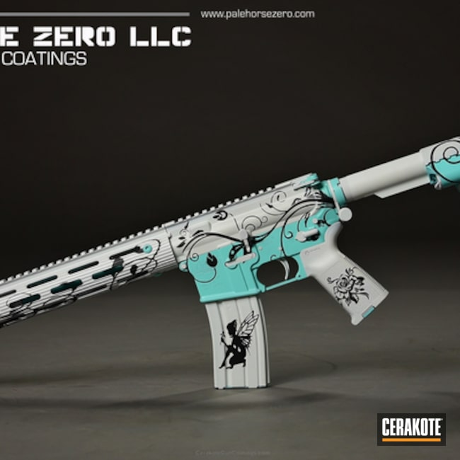 DPMS Panther Arms  in H-175 Robin's Egg Blue