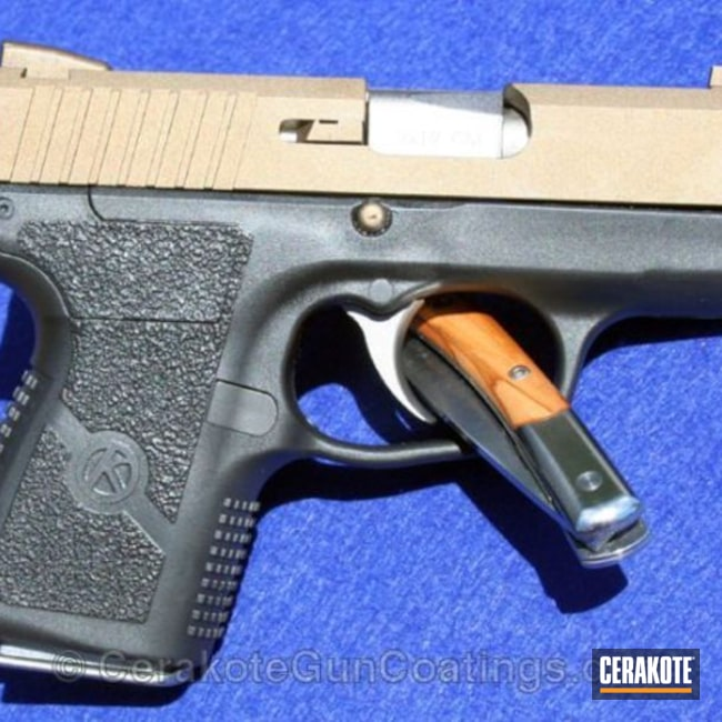 Mobile-friendly version of the 1st project picture. Two Tone, Pistol, Burnt Bronze H-148Q, Kahr