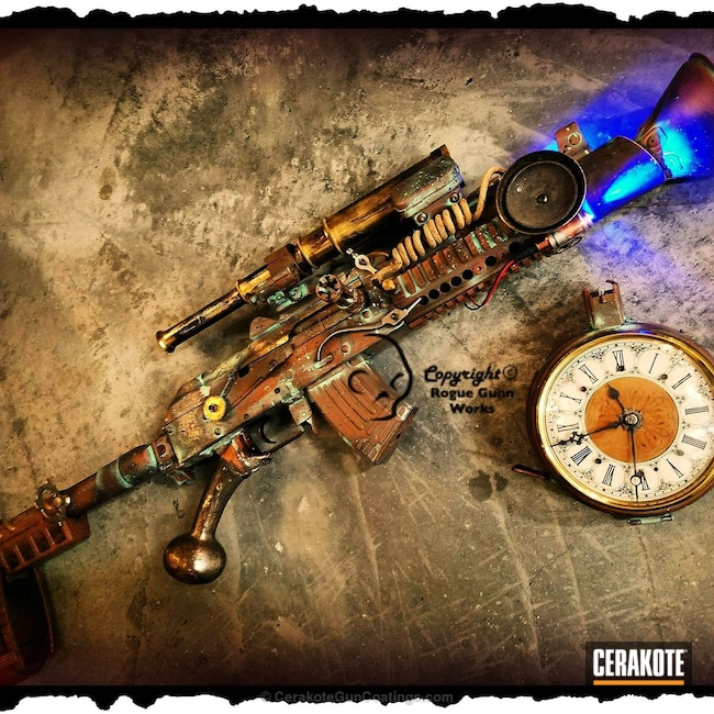 Cerakoted: Girls,Distressed,Zombie Green H-168,Pistol,Midnight Bronze H-294,Custom Pistol,Gold H-122,Steampunk,Custom,Federal Brown H-212,Girls Gun,Burnt Bronze H-148,Custom Built,Copper Brown H-149,Pistols,Custom Mix,Custom Paint,Robin's Egg Blue H-175,Custom Theme,Custom Design,Corrosion Protection,AK-47,7.62x39mm,AK Pistol,Steam Punk,AK Assault Rifle,Hunter Orange H-128,COBALT KINETICS™ GREEN H-296,Custom Cerakote,Ladies