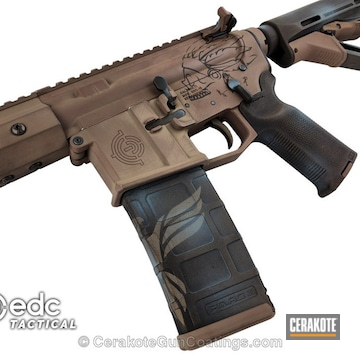 Cerakoted H-148 Burnt Bronze, H-267 Magpul Flat Dark Earth, H-175 Robin's Egg Blue And H-235 Coyote Tan