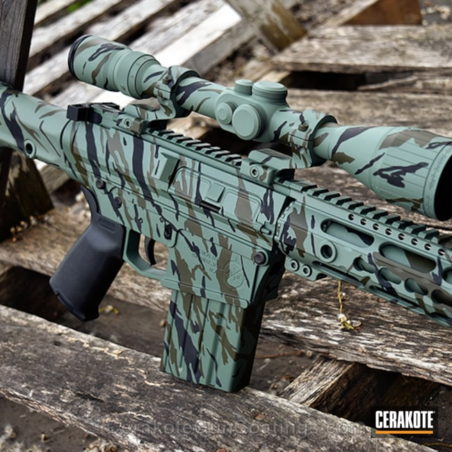 H-258 Chocolate Brown, H-204 MultiCam Green, H-190 Armor Black and H-265 Flat Dark Earth