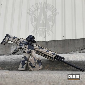 Cerakoted H-199 Desert Sand, H-227 Tactical Grey, H-232 Magpul O.d. Green And H-146 Graphite Black