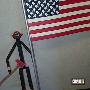 Cerakoted H-146 Graphite Black, H-216 Smith & Wesson Red, H-151 Satin Aluminum, H-136 Snow White And H-127 Kel-tec Navy Blue