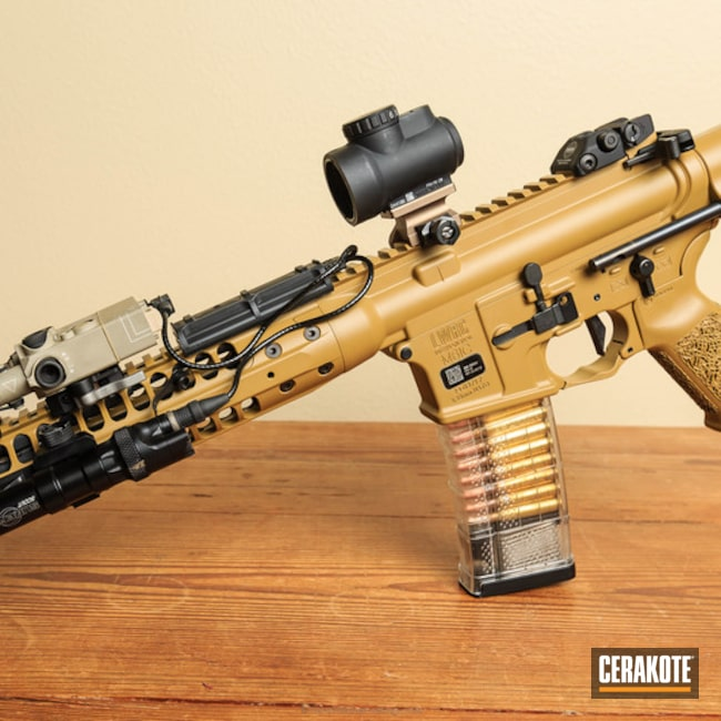 Cerakoted: LWRC International,LWRC M6,A5 SBR,Ral 8000 H-8000,Tactical Rifle