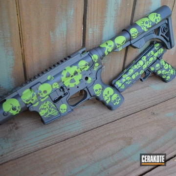 Cerakoted H-234 Sniper Grey And H-168 Zombie Green
