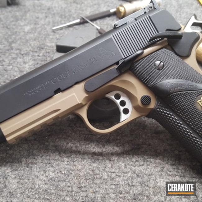 Cerakoted: MAGPUL® FLAT DARK EARTH H-267,Graphite Black H-146,Colt,Colt 1911,Pistol,1911,Custom Pistol