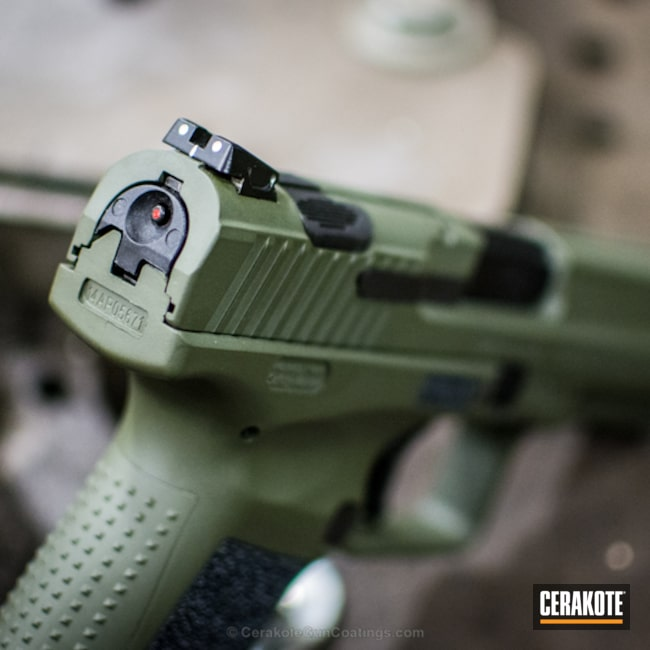 Cerakoted: Century Arms, Inc.,Graphite Black H-146,Mil Spec O.D. Green H-240,Two Tone,Pistol