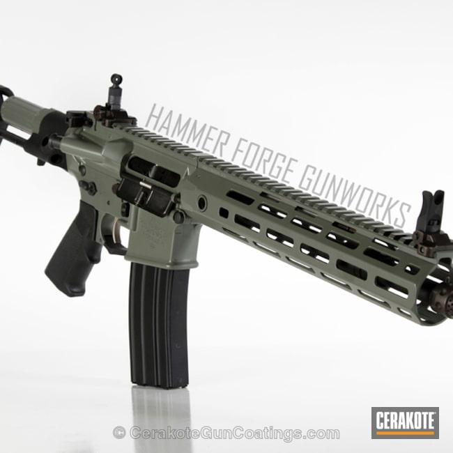 Cerakoted: Jungle E-140,KAC,AR Pistol,Cerakote Elite Series,Jungle E-140G,Pistol,Tactical Rifle,Knight's Armament,Elite,AR-15