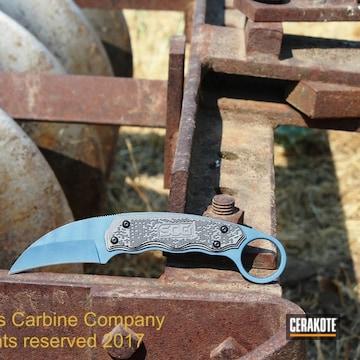 Cerakoted C-111 Tungsten And C-189 Blue Titanium