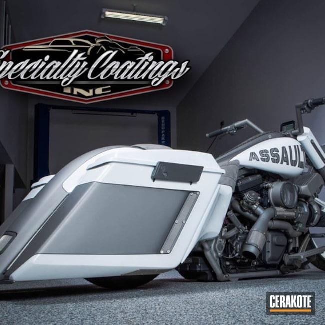 Cerakoted: Custom,TITANIUM C-105,TUNGSTEN C-111,Motorcycles,More Than Guns,High Temperature Coating