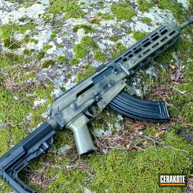 H-146 Graphite Black and H-189 Noveske Bazooka Green