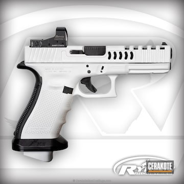 Cerakoted Glock In H-140 Bright White