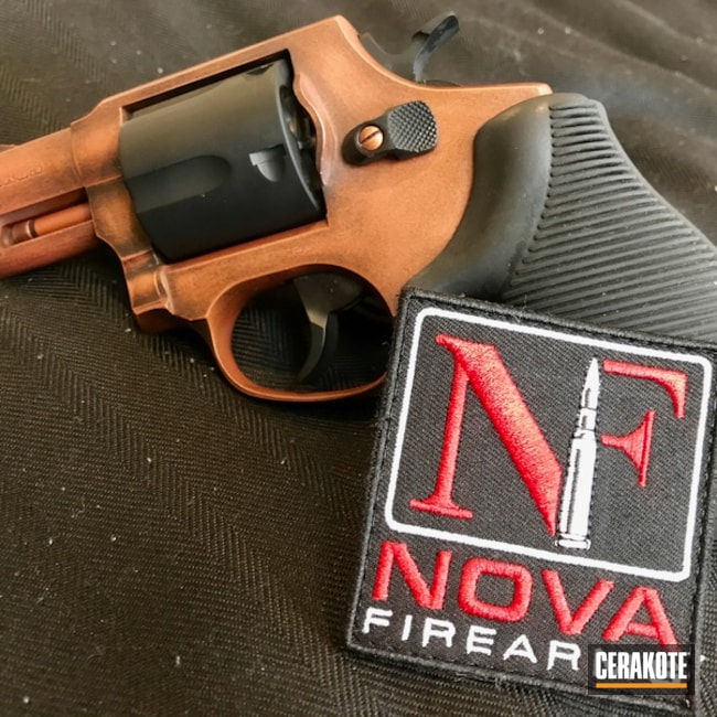 Mobile-friendly version of the 1st project picture. Graphite Black H-146Q, Taurus, Distressed, Custom Mix, Revolver, Custom Copper, Burnt Bronze H-148Q, Copper, USMC Red H-167Q, Gold H-122Q