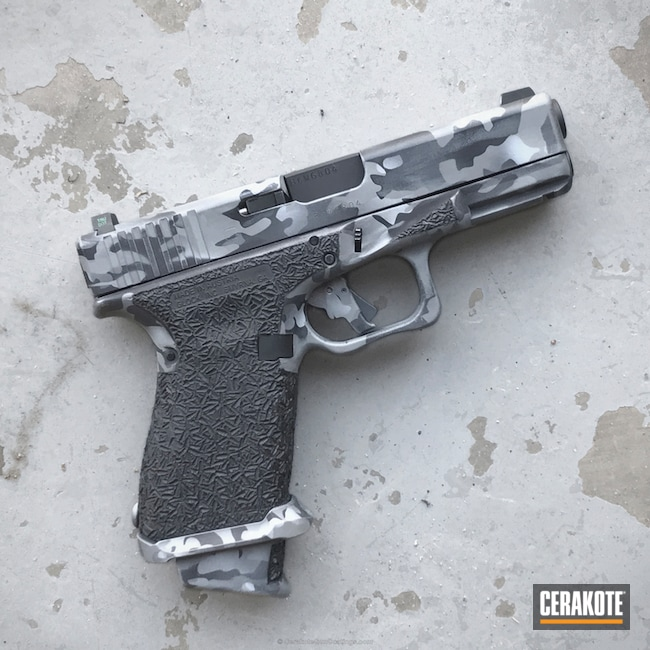 H-146 Graphite Black with H-213 Battleship Grey and H-184 Glock Grey