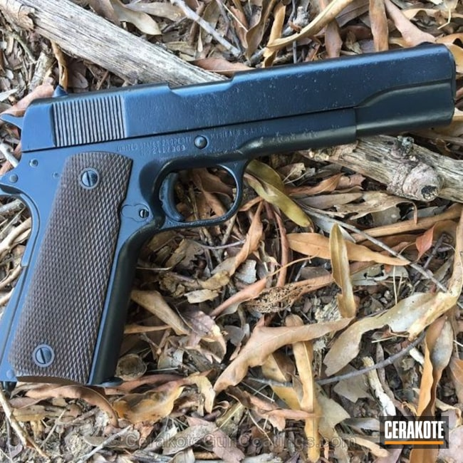 Mobile-friendly version of the 1st project picture. Remington, 1911, Pistol, .45 ACP, Remington Rand1911, US Army, Midnight Blue H-238Q