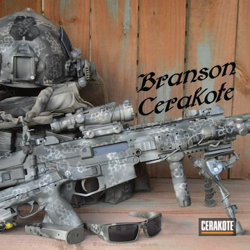 Cerakoted H-146 Graphite Black, H-248 Forest Green And H-143 Benelli Sand
