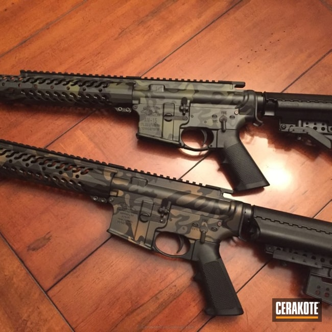 H-146 Graphite Black, H-148 Burnt Bronze, H-234 Sniper Grey and H-189 Noveske Bazooka Green