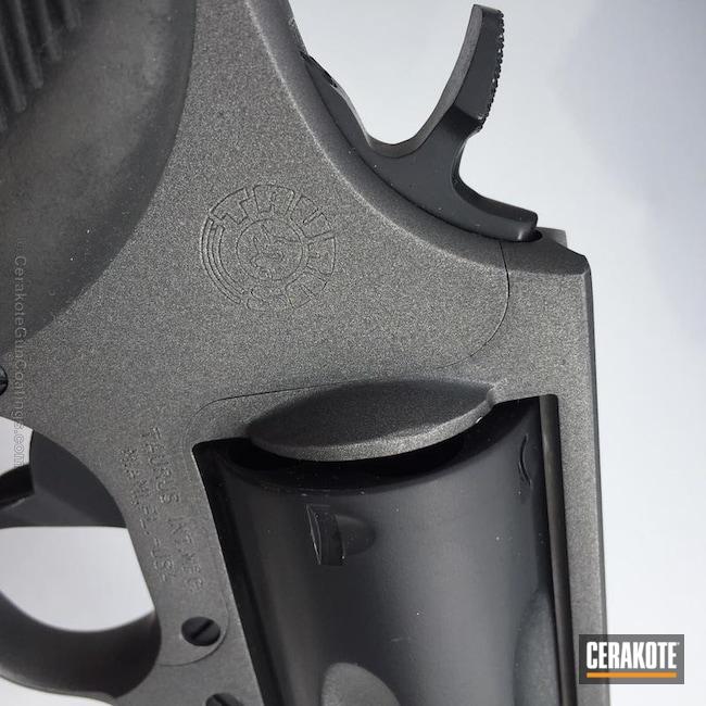 Cerakoted: Graphite Black H-146,Revolver,Judge,Wheel Gun,Tungsten H-237,Taurus