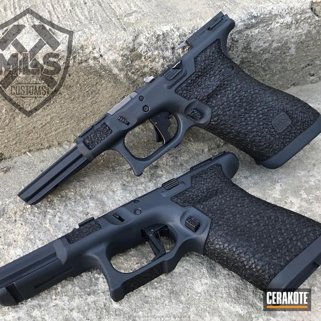 Cerakoted: MAGPUL® STEALTH GREY H-188,Frame,Stippled,Glock,Handguns
