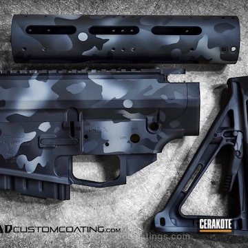 Cerakoted H-146 Graphite Black, H-234 Sniper Grey And H-214 Smith & Wesson Grey