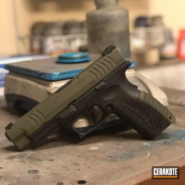 Cerakoted: Springfield XD,Pistol,Springfield Armory,MAGPUL® O.D. GREEN H-232
