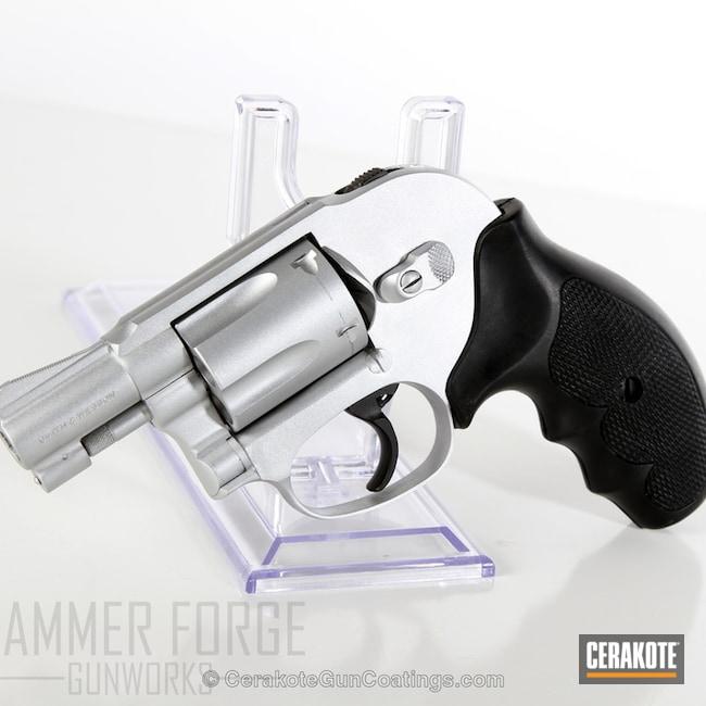 Cerakoted: 38 Special,Smith & Wesson,Revolver,Satin Aluminum H-151,Pistol,.38 S&W Special,Handguns