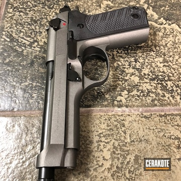 Cerakoted H-146 Graphite Black, H-216 Smith & Wesson Red And H-237 Tungsten