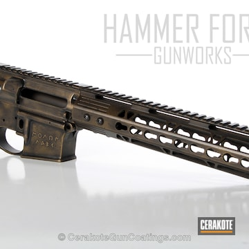 Cerakoted H-146 Graphite Black And H-148 Burnt Bronze