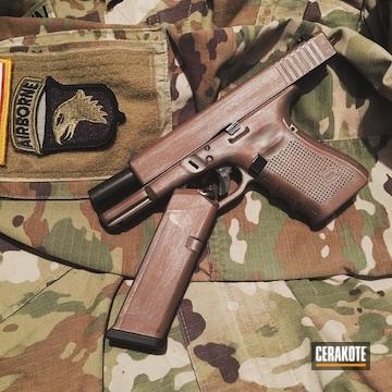 Cerakoted H-170 Titanium And H-212 Federal Brown