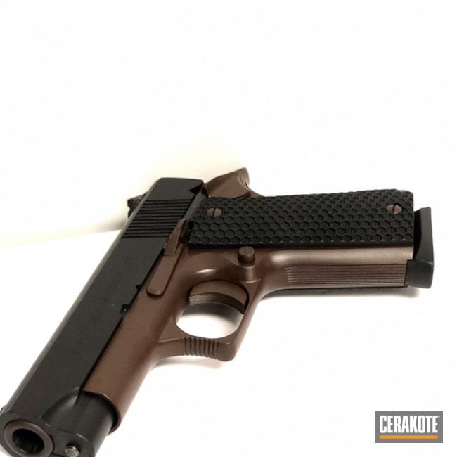 Cerakoted: Conceal Carry,Graphite Black H-146,BARRETT® BRONZE H-259,.45 ACP,Pistol,1911,Bi-Tone,Daily Carry