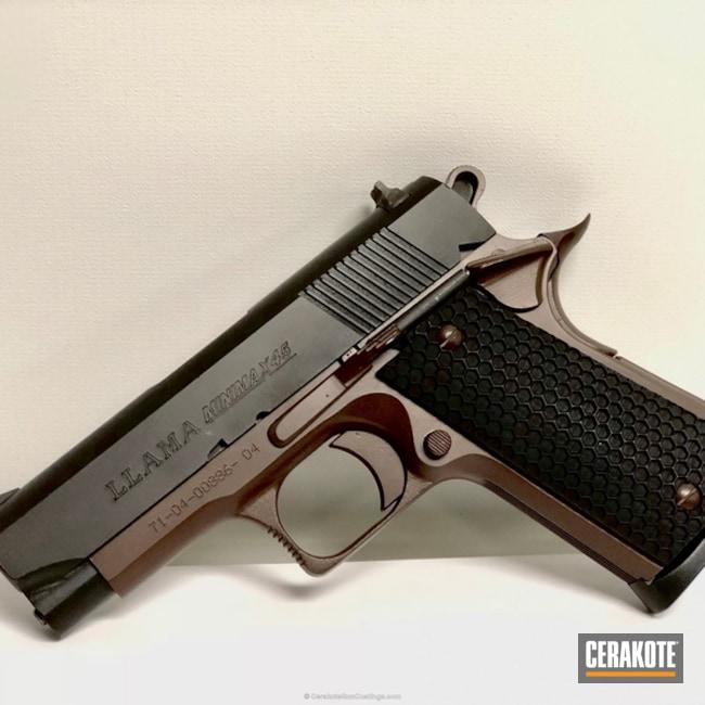 Cerakoted: Conceal Carry,.45 ACP,Graphite Black H-146,BARRETT® BRONZE H-259,Pistol,1911,Daily Carry,Bi-Tone