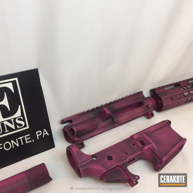 Mobile-friendly version of the 1st project picture. Graphite Black H-146Q, Gun Parts, Sig Pink H-224Q