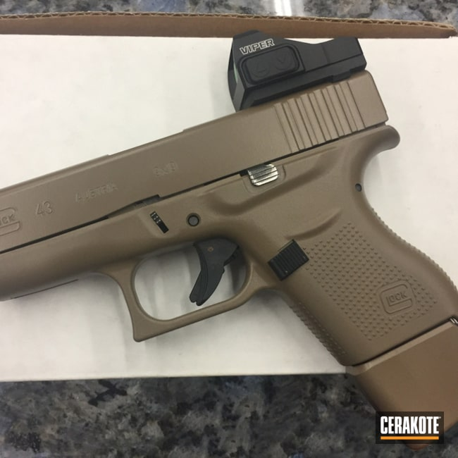 Smaller version of the 1st project picture. Glock, Pistol, Glock 43, Coyote Tan H-235Q