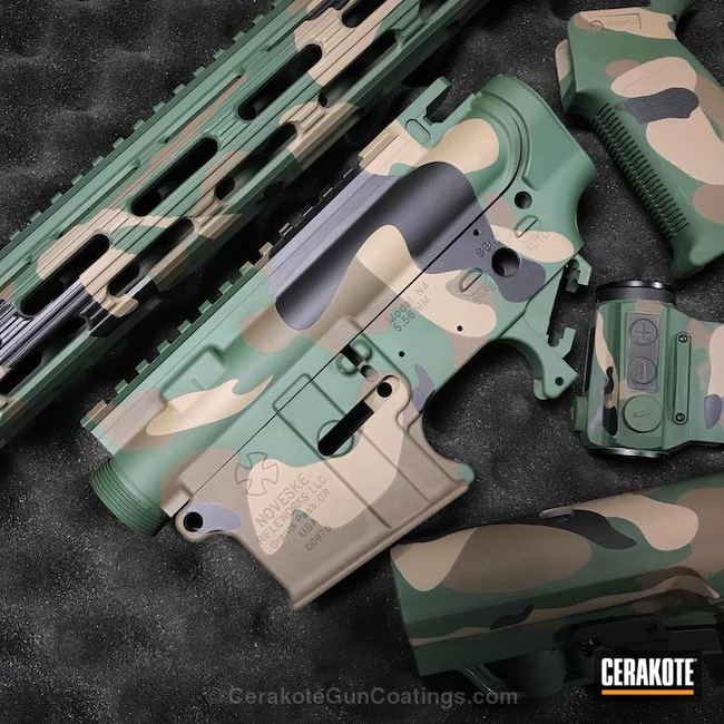 H-146 Graphite Black, H-267 MagPul Flat Dark Earth, H-226 Patriot Brown and H-200 Highland Green