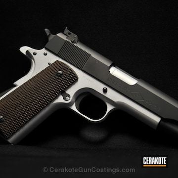 Cerakoted H-255 Crushed Silver With H-146 Graphite Black