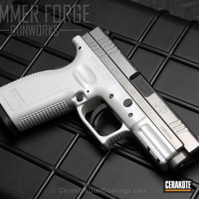 Cerakoted: Snow White H-136,Springfield XD,Pistol,Springfield Armory,Pearl,GunCandy