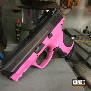 Cerakoted H-146 Graphite Black And H-141 Prison Pink