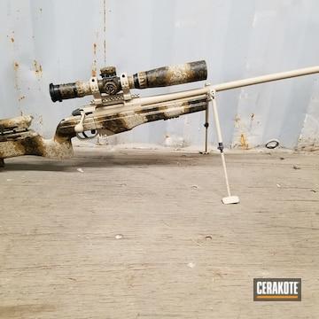 Cerakoted C-211 Desert Sand, C-30118 Federal Standard Field Drab And C-192 Armor Black